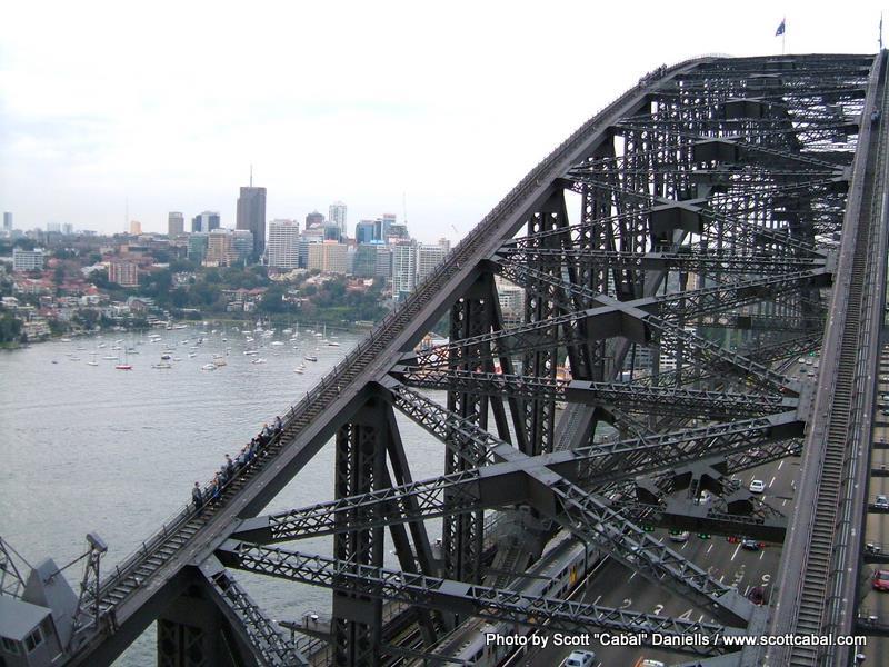Climbers on the bridge