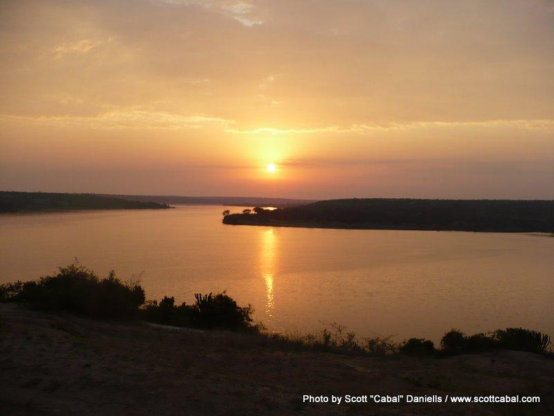 Sunset over the Kazinga Channel