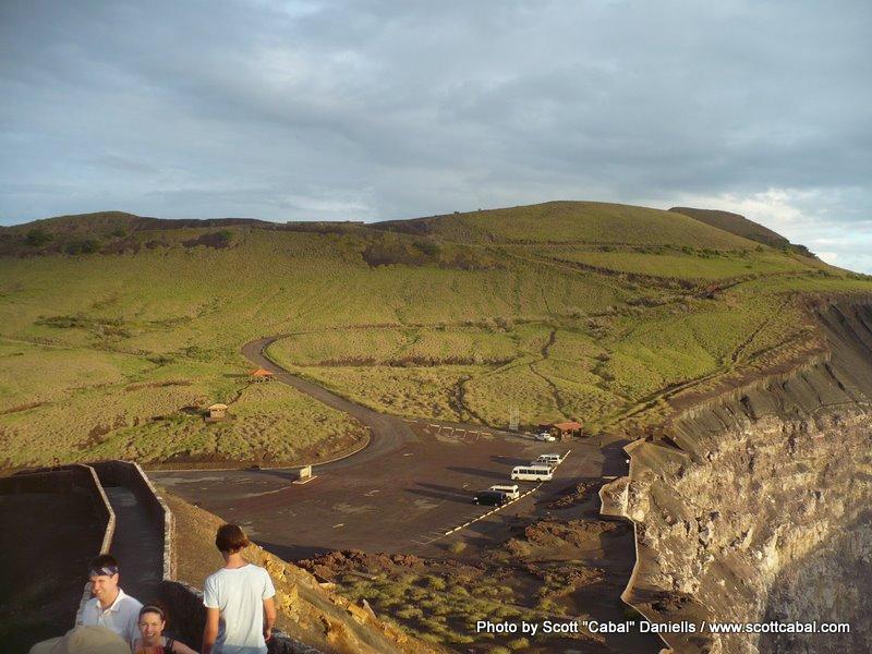 The volcano car park