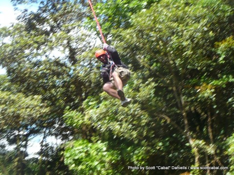 Zip-lining through the cloud forest