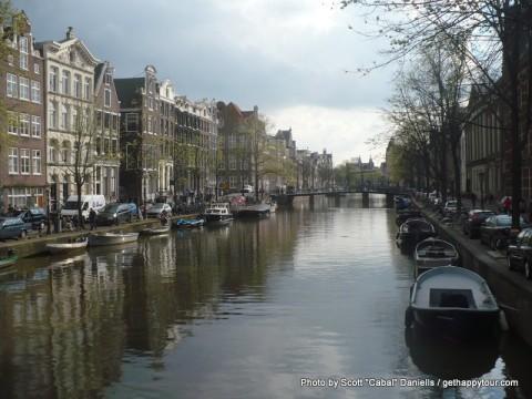 We've arrived in Amsterdam