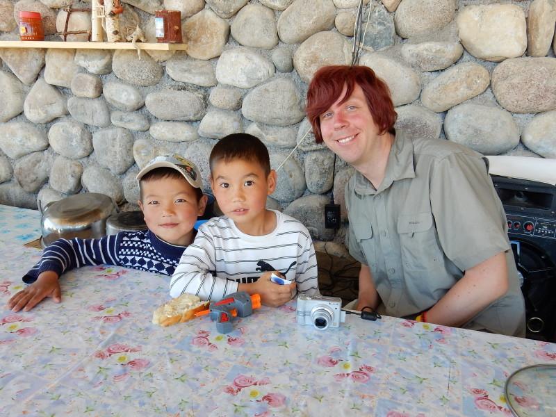 Me and Kyrgyz kids