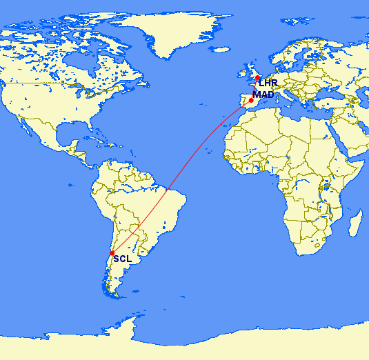 Route to Chile