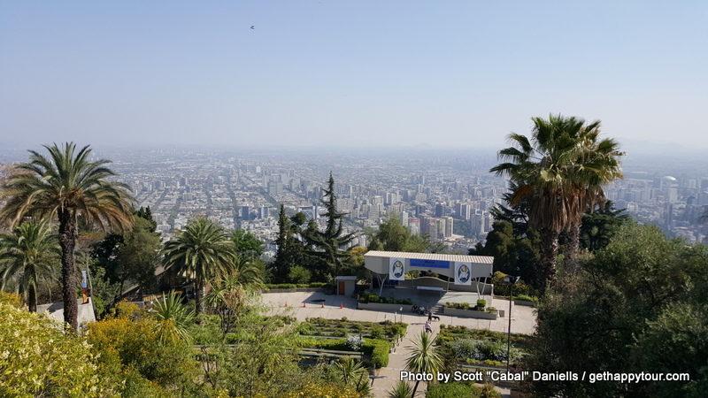 A great view of Santiago de Chile
